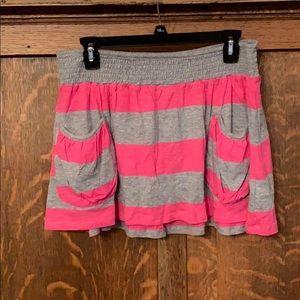 Miley Cyrus X Max Azria mini skirt pink stripe NWT